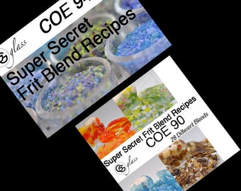 GG Glass coe 96  AND coe 90 Frit Blend Recipe eBooks (Bundle)
