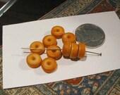 Bone Beads - Peach - Orange - Nepal - Tibet - 9mm - 10 pcs