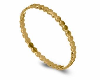 Circles Gold Wedding Ring, 14k Gold Bead Rings, Ball Wedding Band, Classic Gold Wedding Ring, Delicate Wedding  Ring