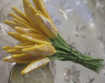 Millinery Flower Stamen Made In Germany Flower Peps 24 Stems Single Ended Gold Lily  MNG 241 Y