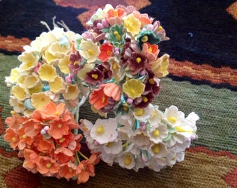 3 bouquets vintage millinery flowers forget by for Fall wedding bouquets for sale