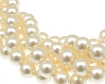 50 CREAM 8mm Swarovski Beads - Article 5810 8mm Pearl Beads - Swarovski Pearl Crystal Pearl - Cream Pearls for Bridal Wedding Jewelry