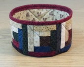 Quilted Fabric Bowl - Log Cabin (UNbowlN)