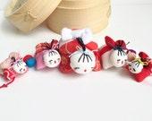 Omochi Doll - Red String Family