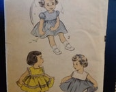 1950s Vintage Sewing Pattern Toddler Dress Advance 6097