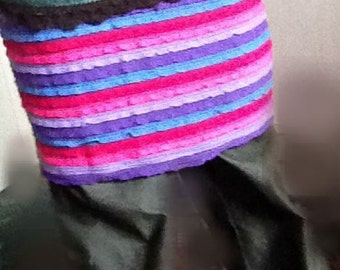 SALE Red, pink, lavender, purple and blue striped skirt SALE