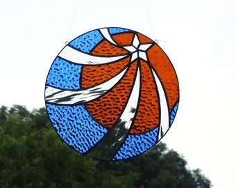Shooting Star Stained Glass Suncatcher