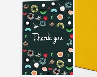 Seaflower Thank You card set