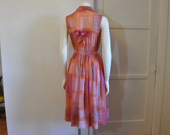 1940s dress / Sheer Delight Vintage 40's Bow Back Dress