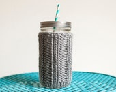 Mason Jar Cozy + Wide Mouth + Large + You Choose the Color
