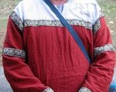 Mens 6 Piece Medieval Clothing Set 3 Linen Tunics, 2 Pairs Linen Pants, 1 Leather Belt SCA Pennsic, LARP