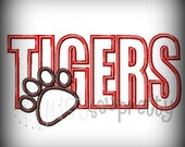 Tigers Paw Embroidery Applique Design