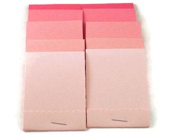 20 Matchbook Notepads   Match Books Mini Note Pads in Pink Pop