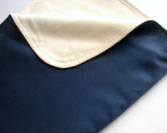 Navy Blue Organic Blanket - Back to School - Eco Friendly - Big Kid Blanket