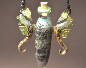 Sea Horse Perfume Bottle with two sea horses