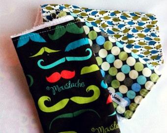 Burp cloth set of 3 in Modern Fabrics