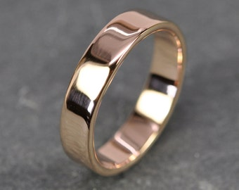 Rose Gold Ring, 18K Gold Band, 5mm, Eco Friendly Recycled, Sea Babe Jewelry
