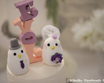 love birds  Wedding Cake Topper (K343)