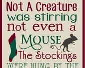 Twas The Night Before Christmas Stencil  Reusable