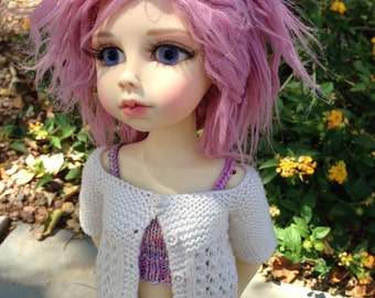 PATTERN to Knit Lace Cardigan for MSD Dolls
