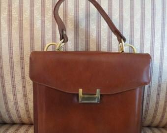 Vintage Brown Handbag Pocketbook Purse