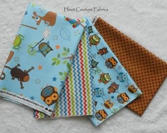 Hooty Hoot Returns ~Owl and Woodland Animal Friends Prints ~ Half Yard Bundle - 2 yards total - on sale