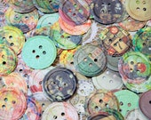 Tim Holtz Die Cut Embossed Buttons For Scrapping,  Layouts, Journals, SMASH Books, Altered or Mixed Media Art