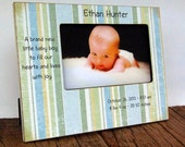 Newborn Boy Photo Frame with Birth Statistics, verse / baby gift,4x6, 5x7