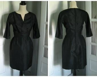 Vintage Black Three Quarter Length Jane Andre Dress