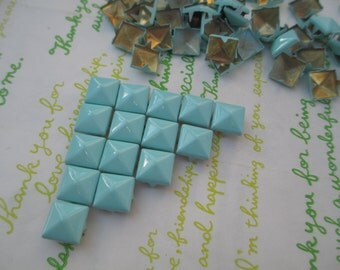 NEW item Colorful Iron Rivet Studs with 4 claws 9mm Leather Crafting 50pcs Pastel Blue