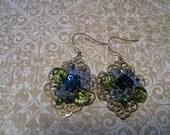 Blue Trellis Earrings