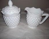 Fenton milk glass sugar and creamer