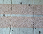 NEW- Stretch Lace NUDE -1 3/4 inch -5 yards for 4.29