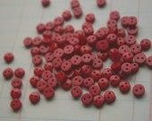 """Tiny Red Buttons - Small Sewing Bulk Button - 1/4""""- 6mm - 100 Buttons"""