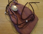 Six inch Pouch with Silver Pendant