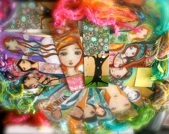 Madonnas, Angels, Saints, Nativities, Fridas - Pre- Order - Laminated Bookmark  Handmade - Original Art by FLOR LARIOS