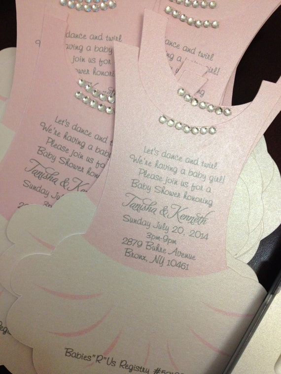 tutu invitation flat ballerina invitation by anaderoux on etsy