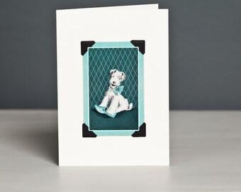 Fox Terrier Card, Wire Fox Terrier, Free UK Postage