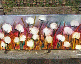 Made to Order, Lavendar and Cotton Patch, ORIGINAL Mixed Media painting, gallery wrap canvas