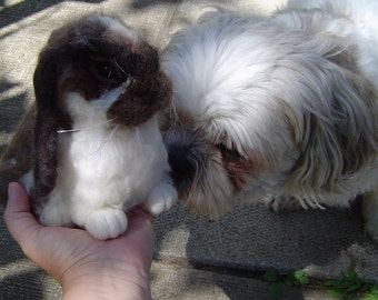 Custom Rabbit needle felted Bunny pet soft sculpture