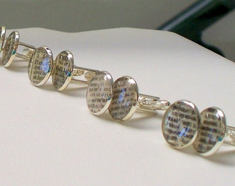 Cuff Links - Set of 4 Dictionary Word Cuff Links - groomsman Gift - you pick the words