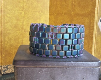 Blue and Violet Cuff