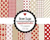 Digital Scrapbooking Brown Sugar-INSTANT DOWNLOAD
