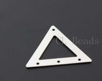 4pcs Matte Silver Plated Triangle - 18.5mm (1733C-T-110)