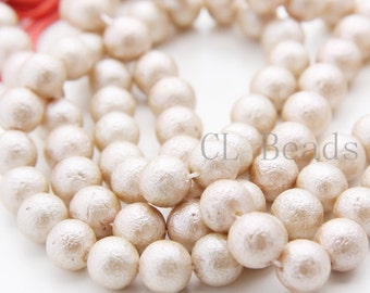 One Full Strand (16 Inches) Glass Pearl - Champagne 10mm (228)