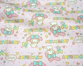Sanrio fabric my melody 50 by 53 cm or 19.6 by 21 inches FAT QUARTER