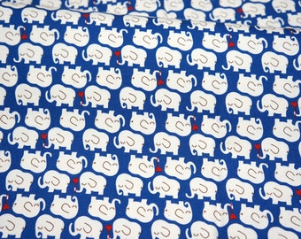 Elephant print  Dark Blue  background color Half meter  (n415)nc51