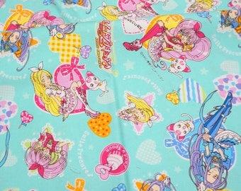 Smile Precure   fabric Anime print Japanese fabric fat quarter  (n431)