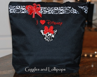 Personalized extra large Disney tote bag Mickey or minnie mouse