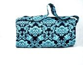 Coupon Organizer, Coupon Holder, Coupon Bag, Coupon Binder, Extreme Couponing, Blue Damask Fabric